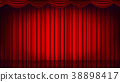 vector, red, curtain 38898417