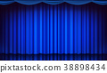 curtain, blue, vector 38898434