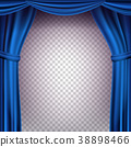 curtain, blue, vector 38898466