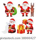 Santa Claus with Presents Icon Vector Illustration 38900427