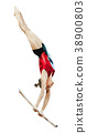 female gymnast in uneven bars 38900803