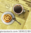 Coffee cup on a newspaper 38902280