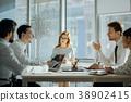 meeting, businesspeople, teamwork 38902415