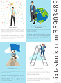 Business-Related Collection of Posters with Text 38903489