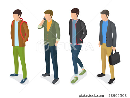 Stylish Men Models in Fashionable Apparels Jackets 38903508