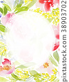 Greeting card with watercolor flowers handmade. 38903702