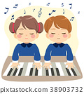 Children Playing Piano 38903732