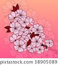 Cherry blossom flowers 38905089