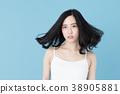 여성 인물 블루 백 이미지 38905881