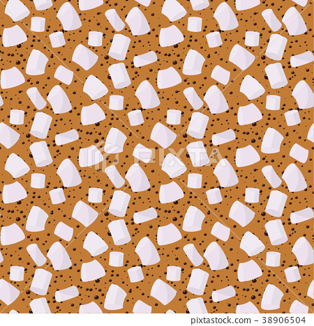 Marshmallows seamless pattern vector sweet candy 38906504