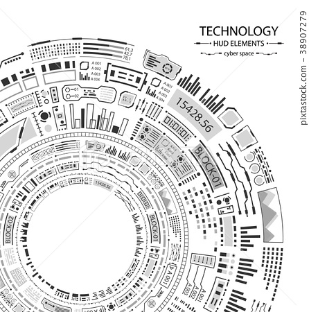 Hud Design for Futuristic Interface, Infographic 38907279
