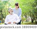 개호 노인 여성 도우미 간병인 38909409