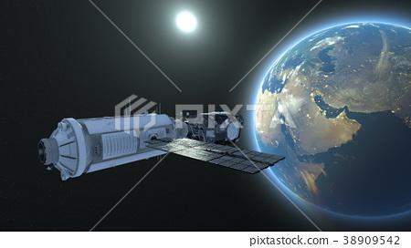 人造卫星 空间 宇宙的 38909542