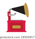 Isolated phonograph icon 38909857