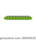 Isolated harmonica icon. Musical instrument 38909926