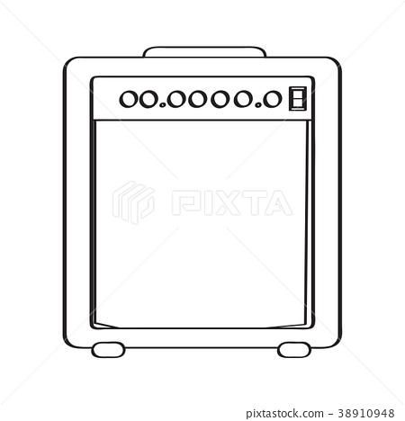 Isolated speaker icon 38910948