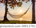 Hammock neary beach and sea on sunrise time 38911781