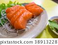 鮭魚生魚片 38913228