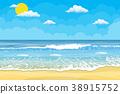 beach, wave, sunny 38915752
