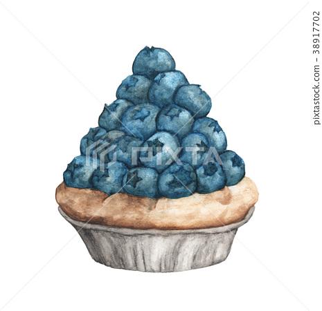 Blueberry tart 38917702