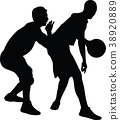basketball player silhouette 38920889