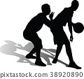 basketball player silhouette 38920890