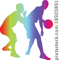basketball player silhouette 38920891