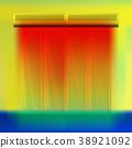 Double air curtain above door. 38921092