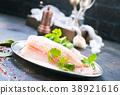 raw fish fillet 38921616