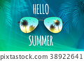 sunglasses, summer, vector 38922641