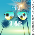 sunglasses, summer, vector 38922657