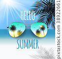 sunglasses, summer, vector 38922661