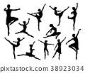 ballet, dancer, silhouette 38923034
