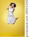 젊은여자, 점프, 원피스 38925200
