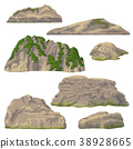 Rocks, Hills and Stones Isolated 38928665