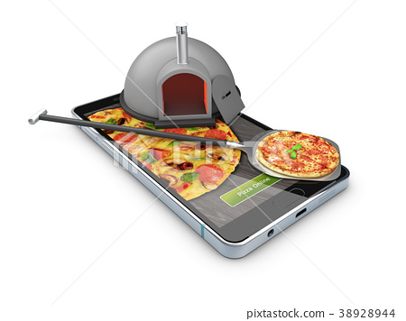 Pizza delivery, call or order online on mobile 38928944