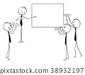 Cartoon of Business People Applauding to Speaker 38932197