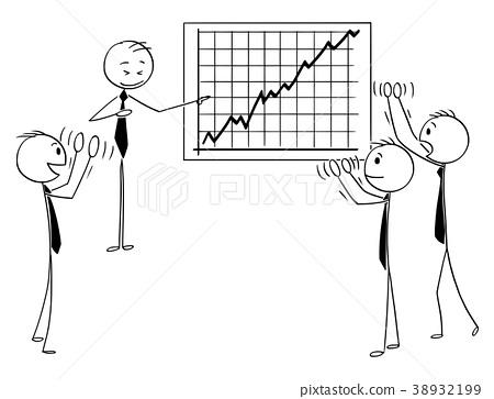 Cartoon of Business People Applauding to Speaker 38932199