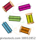 Thread Spool Set Background. For Needlework And 38932852