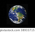 Planet Earth with stars, globe model isolated on black. Elements 38933715