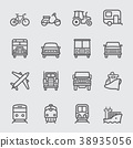 Transportation line icon 38935056
