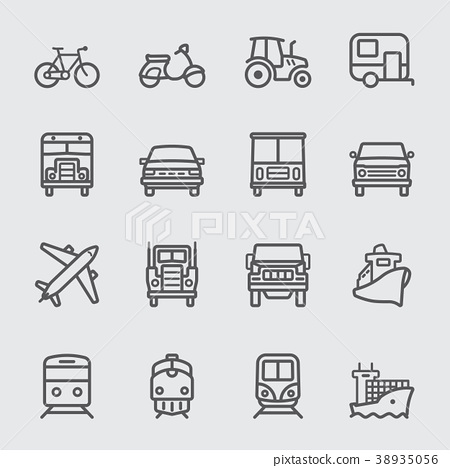 Transportation line icon 38935056