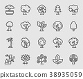 Tree line icon 38935059