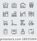 Warehouse line icon 38935064