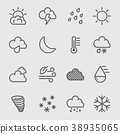 Weather line icon 38935065