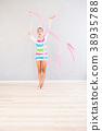 gymnast with ribbon 38935788