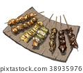 日式烤雞串 雞肉烤串 食物 38935976
