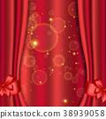Red curtains background 38939058