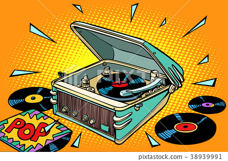 pop music, vinyl records and gramophone 38939991