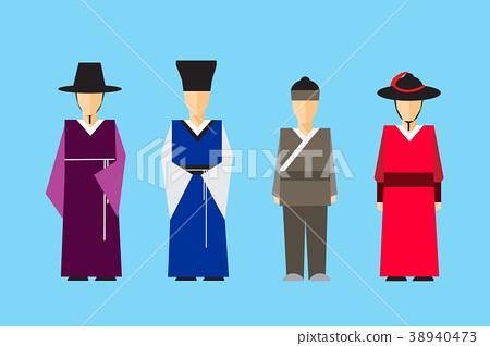 Tradition culture of Korea vector cartoon design. 38940473